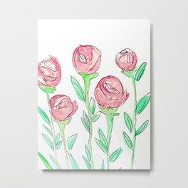 Roses in Spring (Red) Metal Print