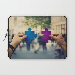 connecting puzzle pieces Laptop Sleeve