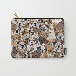 Social English Bulldog Carry-All Pouch