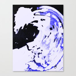 Ice Pack Blue Wave Canvas Print