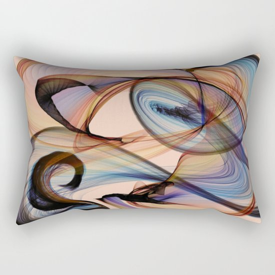 Bird Flame Peach Rectangular Pillow