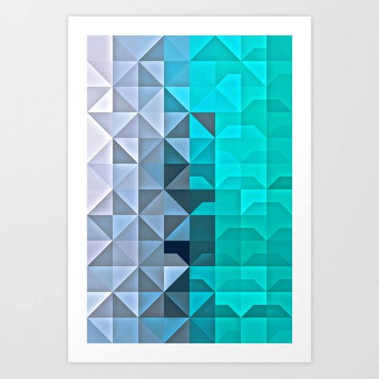 Shaded Ice Art Print