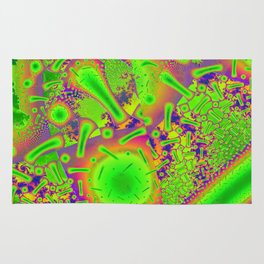 Neon Dichroic Psychedelic Fractal Rug