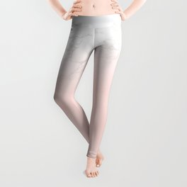 Rose Gold Pink Pastel Marble Luxe Fade Leggings