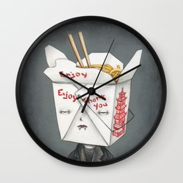 They're Only Noodles Wall Clock