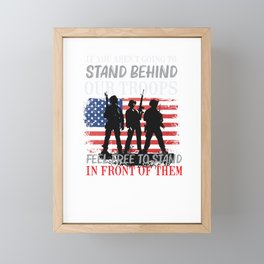 Support Our Troops Shirt - Military Support Framed Mini Art Print