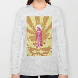 Immaculate Virgin in a Gold Sky digital art Long Sleeve T-shirt
