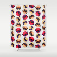 butterflies Shower Curtains featuring Butterflies by Heart of Hearts Designs