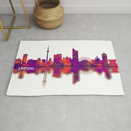 Leipzig Germany Skyline Rug