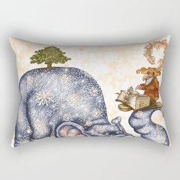 Winter elephant Rectangular Pillow