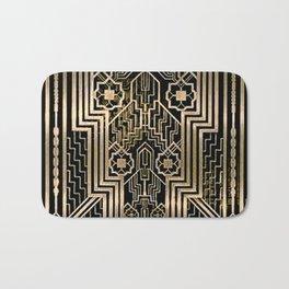 Art Nouveau Metallic design Bath Mat
