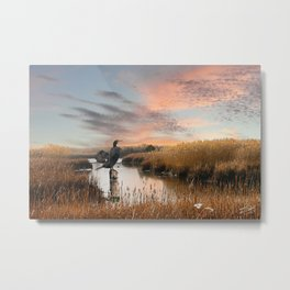 Sunset in the Wetlands Metal Print