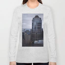 Seattle Skyline and Space Needle on a Cloudy Day Long Sleeve T-shirt