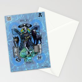 "Ars Tarot of the 12 Zodiac: ""Pisces - The Moon"" Stationery Cards"
