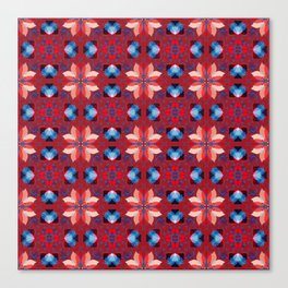 Abstract flower pattern 5h Canvas Print
