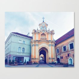 Ancient Basilian gate in the Old city in Vilnius Canvas Print
