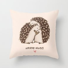 Hedge-hugs Throw Pillow