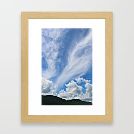 Cloud Path to the Milky Way Framed Art Print