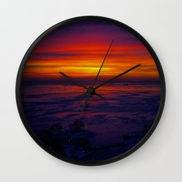 Sunrise in the Vortex Wall Clock