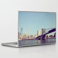 brooklyn bridge Laptop & iPad Skins featuring Brooklyn Bridge  by Shilpa