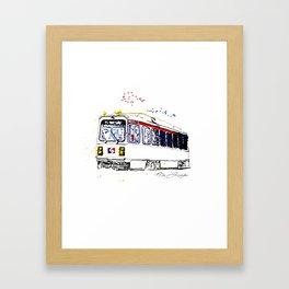 Septa Trolley Art: Philly Public Transportation Framed Art Print
