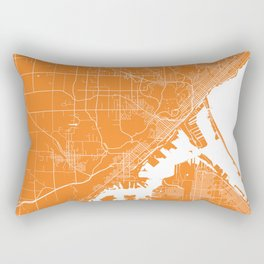 Duluth map orange Rectangular Pillow