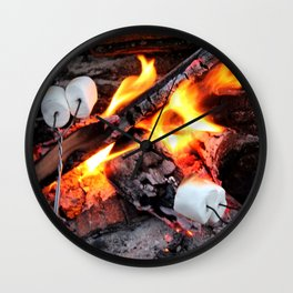 Roasting Marshmellows Wall Clock