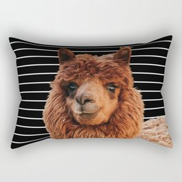 Llama Drama Rectangular Pillow