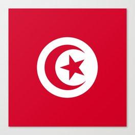 Tunisia flag emblem Canvas Print