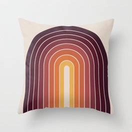 Gradient Arch - Sunset Throw Pillow