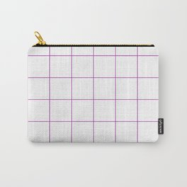 Graph Paper (Purple & White Pattern) Carry-All Pouch