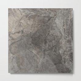 Rough Eurasia Stone - Gray Metal Print