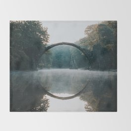 The Devil's Bridge - Landscape and Nature Photography Throw Blanket