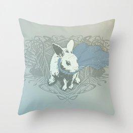 Fearless Creature: Rabz Throw Pillow