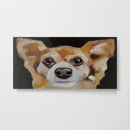 Art work, oil painting, animal, funny dog, puppy, little fox Metal Print