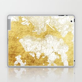 Hong Kong Map Gold Laptop & iPad Skin