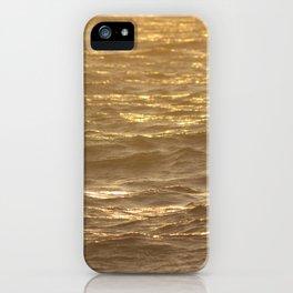 Sunset light hitting the ocean iPhone Case