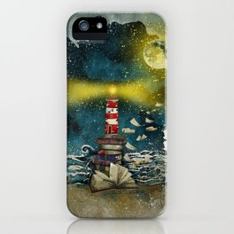 the sea is poetry iPhone Case