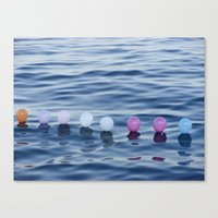 baloon Canvas Prints featuring baloon sea by sohomax