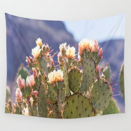 Prickly Pear Cactus Blooms, II Wall Tapestry