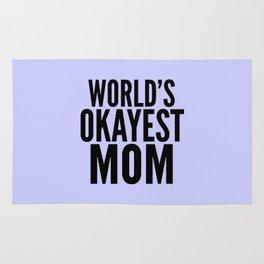 WORLD'S OKAYEST MOM (Lilac) Rug