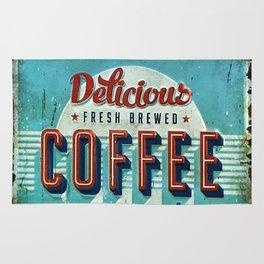 Vintage Style Coffee Sign Rug