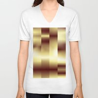 copper V-neck T-shirts featuring Copper Pattern by Robin Curtiss