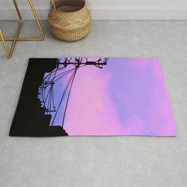 Aesthetic sunset Japanese Lo Fi  Rug