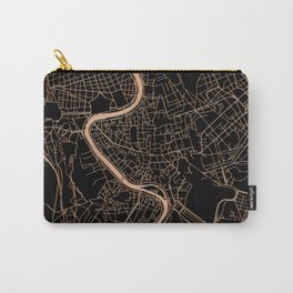 Black and gold Rome map Carry-All Pouch