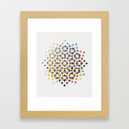 CMYK embroidery Framed Art Print