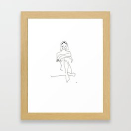 moody girl 2- i promise innocence still lingers in here somewhere Framed Art Print