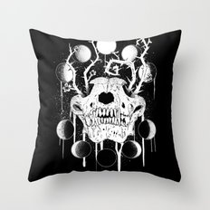 Wings of Sin Collaboration Throw Pillow