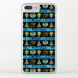 Egyptian  Ornament Symbols Pattern Clear iPhone Case