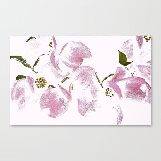 Dogwood Tree Flowers-pink Canvas Print